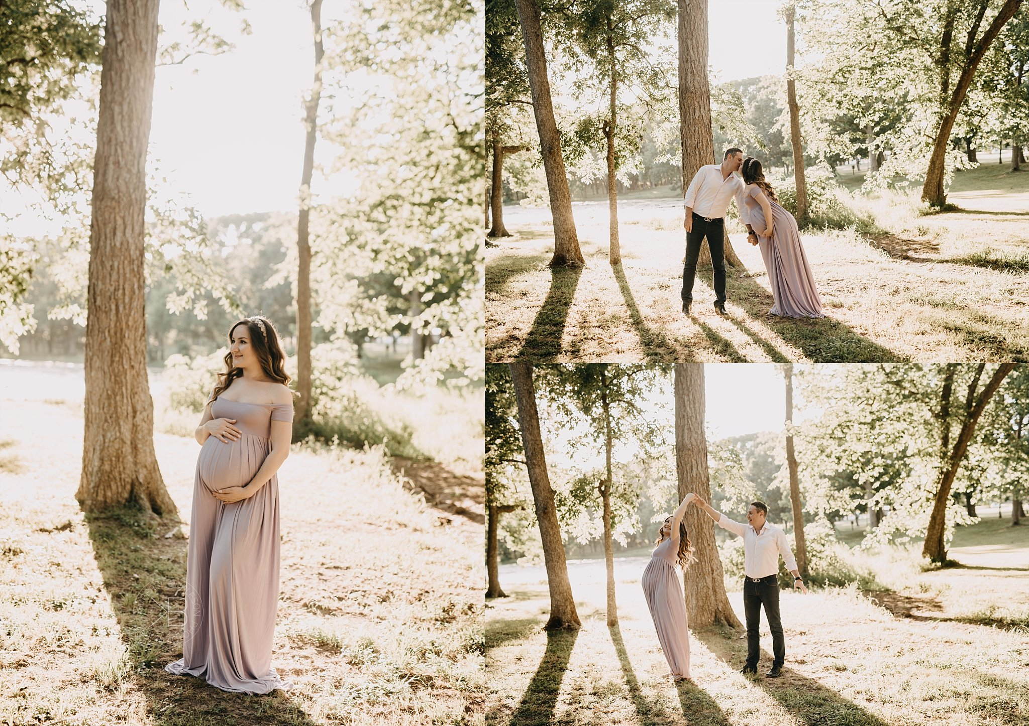 texas maternity session twins